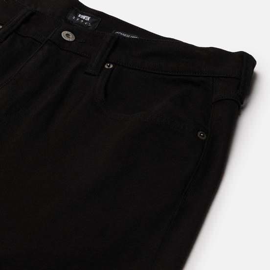 Мужские джинсы Edwin ED-55 CS Ayano Black Denim 11.8 Oz Black Overdyed