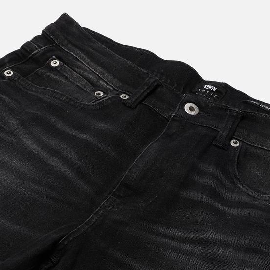 Мужские джинсы Edwin ED-80 CS Ayano Black Denim 11.8 Oz Black Kahori Wash