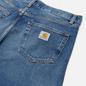 Мужские джинсы Carhartt WIP Pontiac 13.5 Oz Blue Mid Used Wash фото - 2