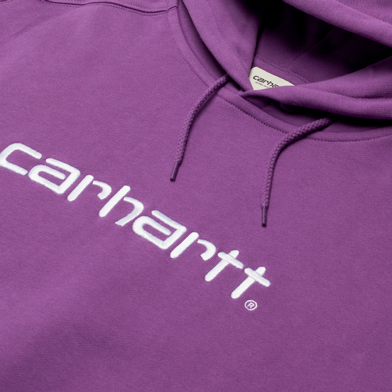 Женская толстовка Carhartt WIP W Carhartt Hooded 9 Oz Aster/White