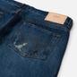 Мужские джинсы Edwin Regular Tapered Dark Pure Indigo Rainbow Selvage 13.5 Oz Blue Mid Used Remake фото - 2