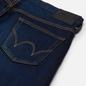 Мужские джинсы Edwin Slim Tapered Kaihara Blue Stretch Denim Green x White Selvage 12.5 Oz Blue Dark Used фото - 2