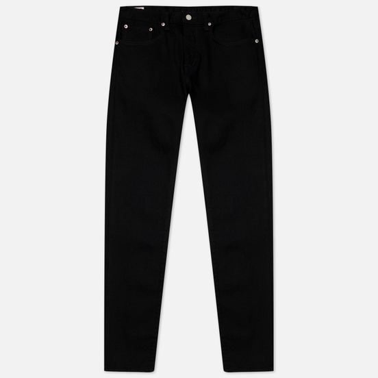 Мужские джинсы Edwin Slim Tapered Kaihara Black Stretch Denim Green x White Selvage 12.5 Oz Black Rinsed