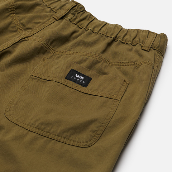 Мужские шорты Edwin Gangis PFD Light Cotton Twill 6.8 Oz Martini Olive Garment Dyed