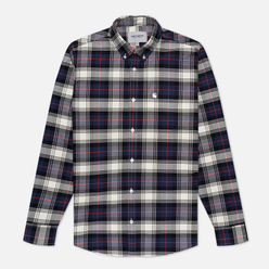 Мужская рубашка Carhartt WIP L/S Steen Check 4.7 Oz Blue