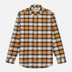 Мужская рубашка Carhartt WIP L/S Steen Check 4.7 Oz Winter Sun
