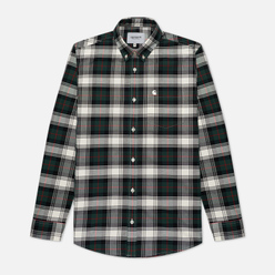 Мужская рубашка Carhartt WIP L/S Steen Check 4.7 Oz Bottle Green