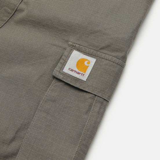 Мужские шорты Carhartt WIP Aviation 6.5 Oz Air Force Grey Rinsed