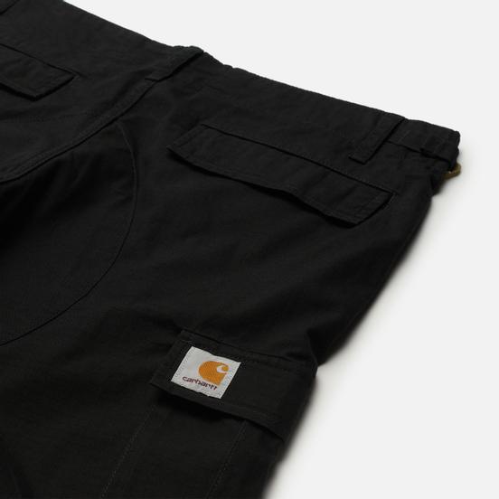 Мужские шорты Carhartt WIP Aviation 6.5 Oz Black Rinsed