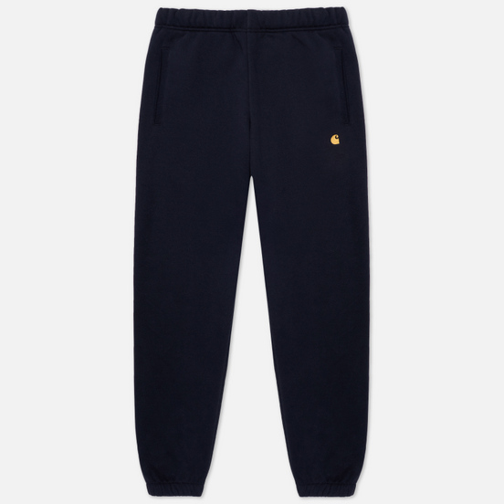 Мужские брюки Carhartt WIP Chase Sweat 13 Oz Dark Navy/Gold