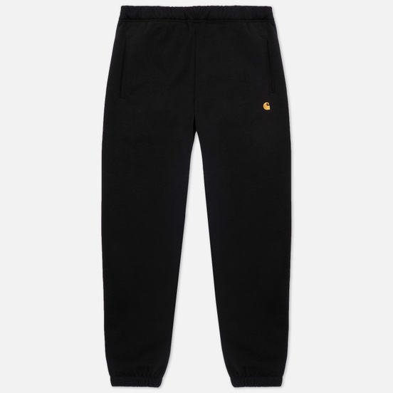 Мужские брюки Carhartt WIP Chase Sweat 13 Oz Black/Gold