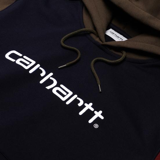 Мужская толстовка Carhartt WIP Tricol Hoodie 13 Oz Dark Navy