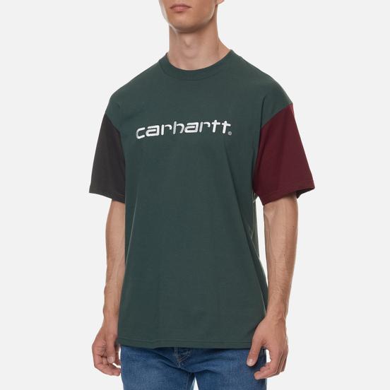 Мужская футболка Carhartt WIP S/S Carhartt Tricol Dark Teal