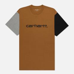 Мужская футболка Carhartt WIP S/S Carhartt Tricol Hamilton Brown