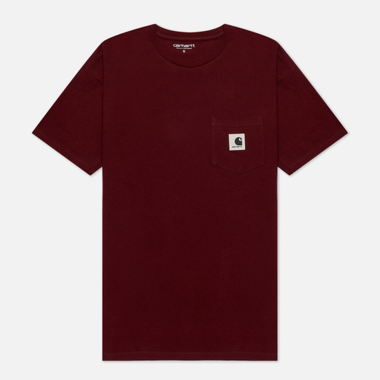 Женская футболка Carhartt WIP W S/S Carrie Pocket Bordeaux