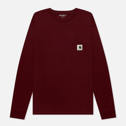 Женский лонгслив Carhartt WIP W L/S Pocket Bordeaux