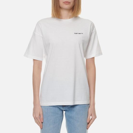 Женская футболка Carhartt WIP W S/S Script Embroidery White/Black