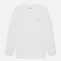 Мужской лонгслив Carhartt WIP L/S Reflective Headlight White/Reflective Grey