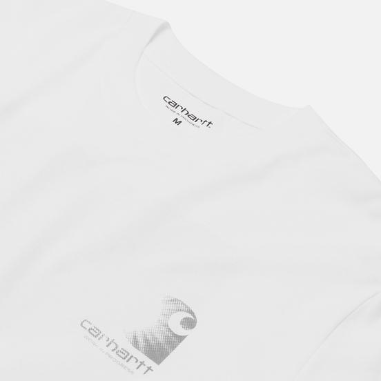 Мужской лонгслив Carhartt WIP L/S Reflective Headlight White/Reflective Grey