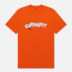 Мужская футболка Carhartt WIP S/S Loony Script Safety Orange