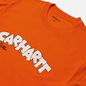 Мужская футболка Carhartt WIP S/S Loony Script Safety Orange фото - 1