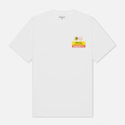 Мужская футболка Carhartt WIP S/S Warning White