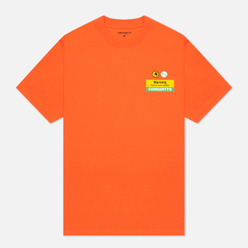 Мужская футболка Carhartt WIP S/S Warning Safety Orange