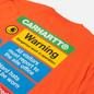 Мужская футболка Carhartt WIP S/S Warning Safety Orange фото - 2