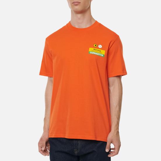 Мужская футболка Carhartt WIP S/S Warning Safety Orange