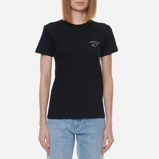 Женская футболка Carhartt WIP W S/S Reverse Midas Black/White