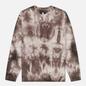 Мужская толстовка Edwin Van Crew Frost Grey Batik Garment Dyed фото - 0