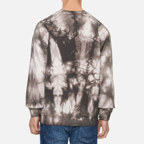 Мужская толстовка Edwin Van Crew Frost Grey Batik Garment Dyed
