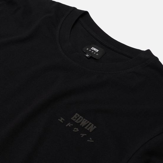 Мужской лонгслив Edwin Logo Chest Black