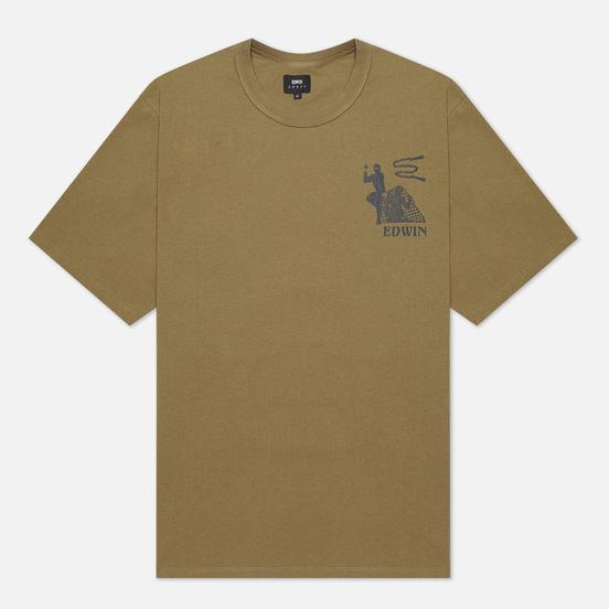 Мужская футболка Edwin Shinobii Martini Olive