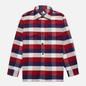 Мужская рубашка Edwin Big Flannel Buffalo Bordeaux/Navy фото - 0