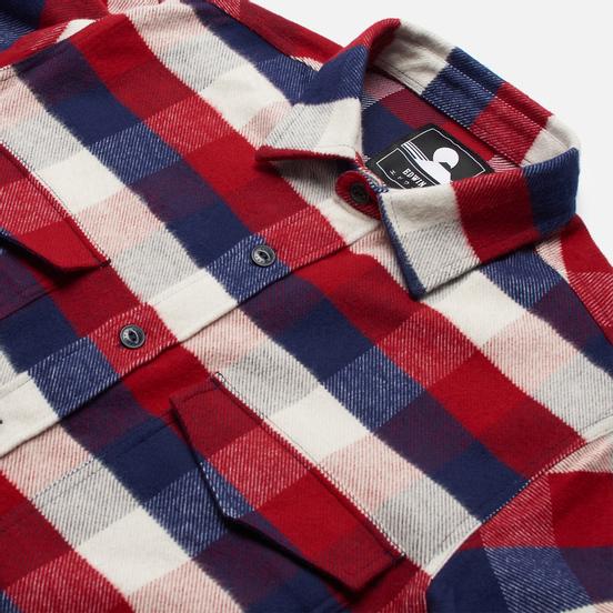 Мужская рубашка Edwin Big Flannel Buffalo Bordeaux/Navy