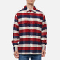 Мужская рубашка Edwin Big Flannel Buffalo Bordeaux/Navy фото - 2