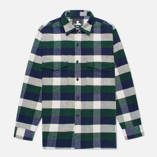 Мужская рубашка Edwin Big Flannel Buffalo Greener Pastures/Navy