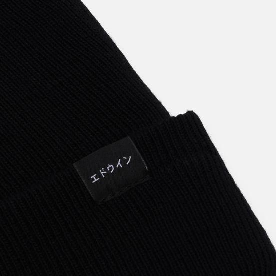 Шапка Edwin New Watch Garment Washed Black