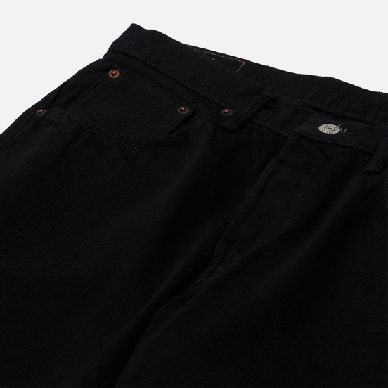 Мужские джинсы Edwin Regular Tapered Black Rainbow Selvage 14 Oz Black Rinsed