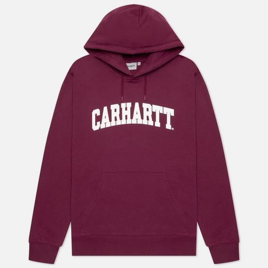 Мужская толстовка Carhartt WIP University Hooded 9.4 Oz Shiraz/White
