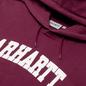 Мужская толстовка Carhartt WIP University Hooded 9.4 Oz Shiraz/White фото - 1