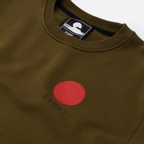 Мужская толстовка Edwin Japanese Sun Uniform Green Garment Washed