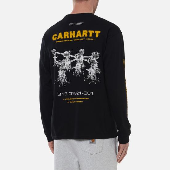 Мужской лонгслив Carhartt WIP Airwaves Black