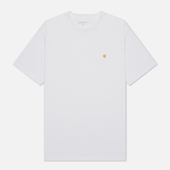 Женская футболка Carhartt WIP W S/S Chase White/Gold