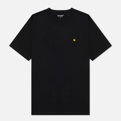 Женская футболка Carhartt WIP W S/S Chase Black/Gold
