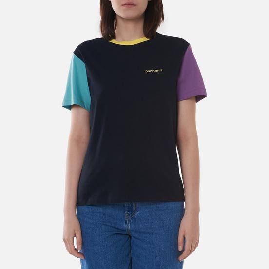 Женская футболка Carhartt WIP W S/S Quad Dark Navy