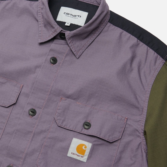 Мужская рубашка Carhartt WIP L/S Valiant 6.5 Oz Provence Rinsed