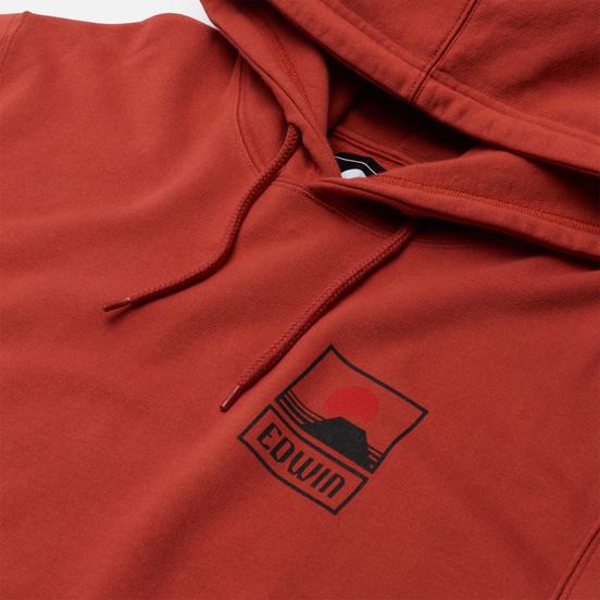 Мужская толстовка Edwin Sunset On Mount Fuji Hoodie Burnished Sunset Garment Washed