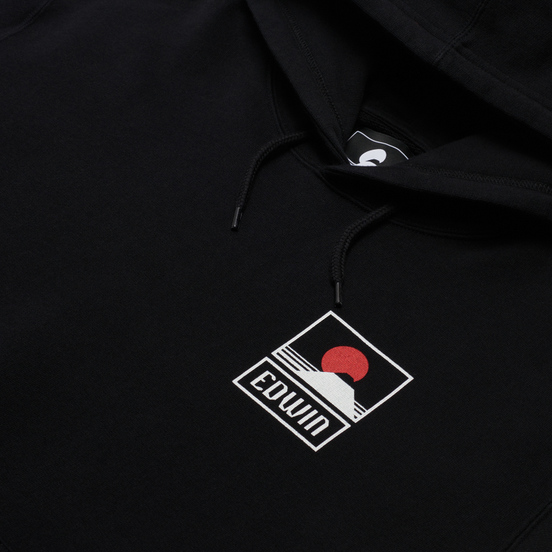 Мужская толстовка Edwin Sunset On Mount Fuji Hoodie Black Garment Washed
